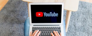 youtube on laptop